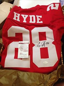 San Francisco 49ers Autographed Carlos Hyde RB Jersey