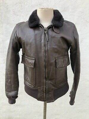 Top Gun Jacket (Vtg Men's USN NavY Bomber Motorcycle Flight Pilot Leather Top Gun G1 A2)