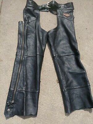 2Fit Motorcycle Leather Chaps Pants Biker Cowboy Riding Racing Black Genuine Leather Chap SMALL