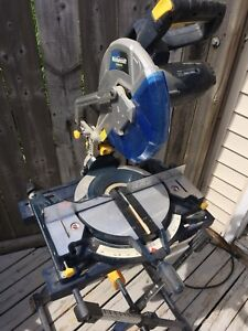 "10""  Mastercraft compound mitre saw with stand."