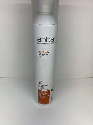 Abba FIRM Finish HAIR Spray Lasting Hold UV Protection 10 oz