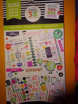 "**BRAND NEW EDITION** MAMBI 365 Happy Planner ""TEACHER"" STICKER BOOK Green 1192"