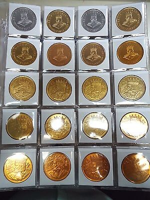 1960-2017 Set Of 60 REX New Orleans Mardi Gras Doubloons