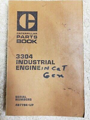 Cat Caterpillar 3304 Industrial Engine Parts Book 2b9537 5aa1- Generator