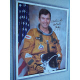 John Young Autographed NASA 8X10 photo in STS-1 Flight suit ( oss )