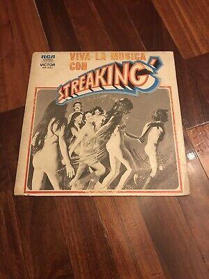 ABBA VIVA LA MUSICA CON STREAKING LP ARGENTINA RARE COMPILATION TRITONS GALLETA