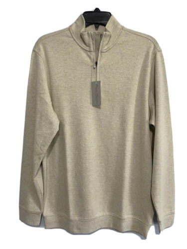 Daniel Cremieux Mens Pullover Sweater Small Long Sleeve Mock Neck Cream Clothing, Shoes & Accessories
