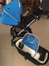 Silvercross Wayfarer Sky Blue Stroller & Free cot and change table Rouse Hill The Hills District Preview