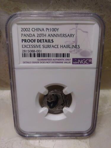 2002 China Platinum 100 Y Panda 20th anniversary