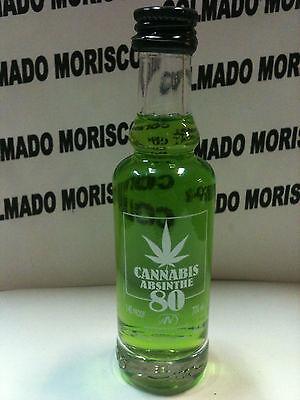 ABSENTA CANNABIS 40ml 70 miniatura mignonette mini bottle ABSINTHE ASSENZIO a