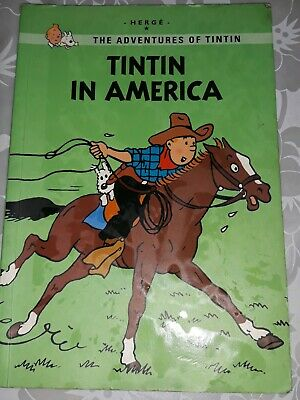 TINTIN IN AMERICA Hergè 2013 Paperback Edition With 20 Pages Bonus Material GC