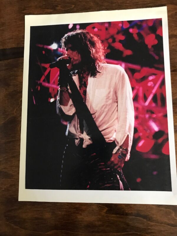 Vintage Aerosmith Stephen Tyler 8.5x11 Glossy Photo Slight Discoloration