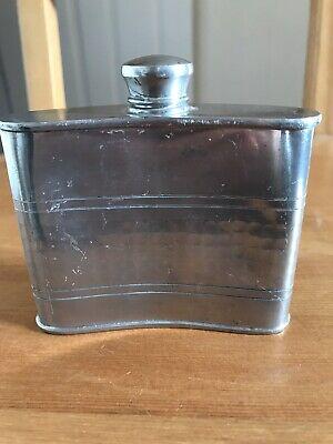 Chrome Silver Vintage Hip Flask Vintage drinking Flask
