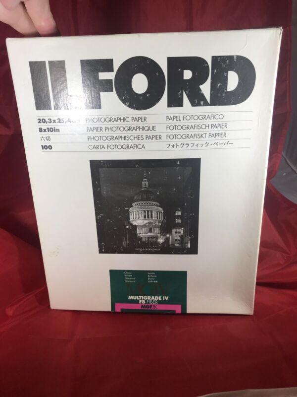 Ilford 8x10 Glossy MGIV Multigrade IV FB Fiber Pack 100 Opened