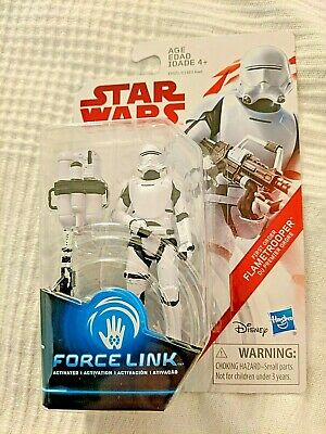 "Star Wars Last Jedi Force Link FIRST ORDER FLAMETROOPER 3.75"" Action Figure"