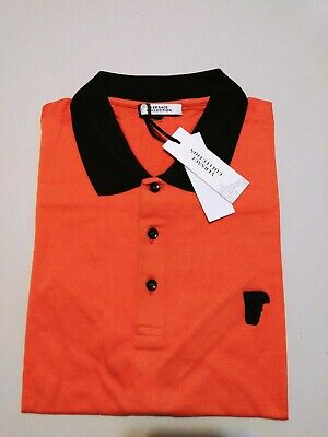 NWT Authentic Orange Versace Collection  Medusa Polo Size L