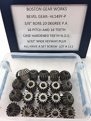 Boston Gear Hl149y-p Bevel Gear For Clocks Hobby Railroad Lathe Etc.