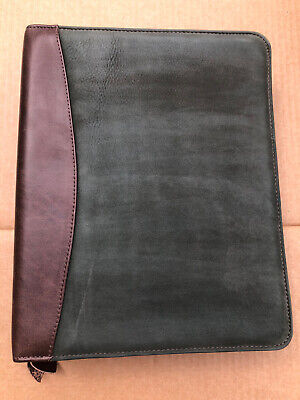 Franklin Covey Quest 7 Ring Planner Green Grand Canyonland Leather Gently Used
