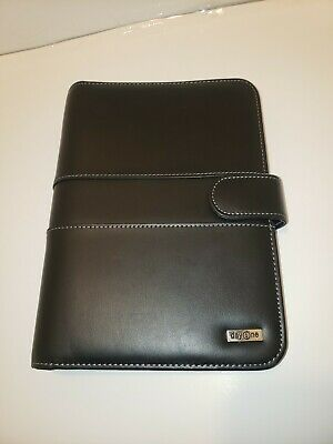 Nice Leather Franklin Covey Black Day One Daily Business Planner Organizer F8
