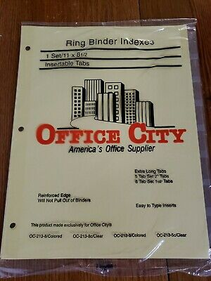 Ring Binder Dividers 8 Index Clear Tabs Lot Of 10 Sets