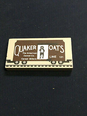 Cats Meow Village QUAKER OATS TRAIN CAR Wood Accessory Retired Railroad 161