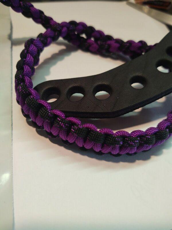Acid purple and black Bling Sling, Archery bow wrist strap Free Ship Mathews