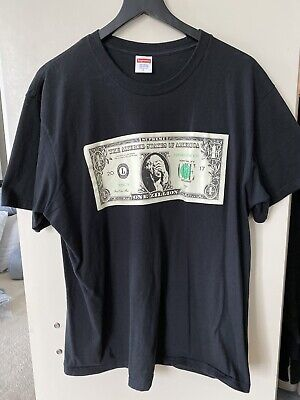 Supreme - Dollar Tee Black T-Shirt Size L Large SS18 Altered States