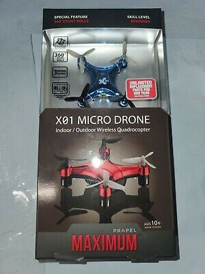 Force Maximum X01 Micro Drone Indoor/Outdoor Wireless Quadrocopter (WP1)