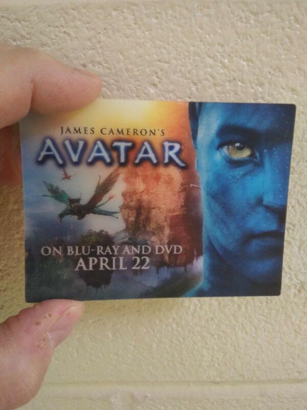 AVATAR promo halagram sticker card James Cameron movie NEW HTF collectable 2009