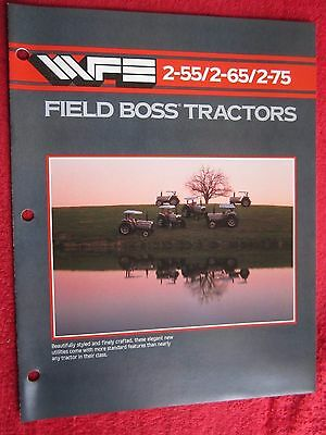 1984 White 2-55 2-65 2-75 Field Boss Tractor 16 Page Brochure