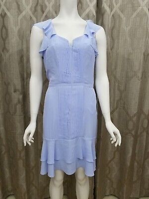 BANANA REPUBLIC Dress size 8 pleated with ruffles EUC