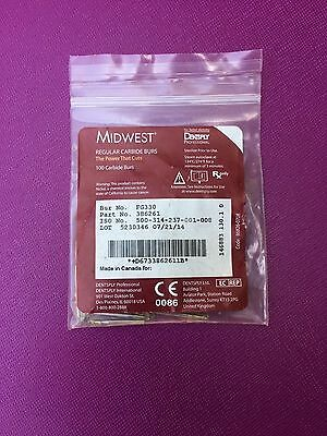 Dental Midwest Carbide Burs Fg 330 Friction Grip 100 Burs 386261