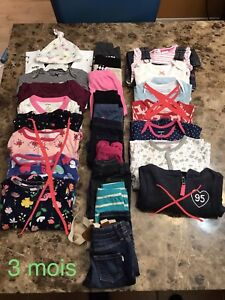 Lot vêtements 3 mois bébé fille