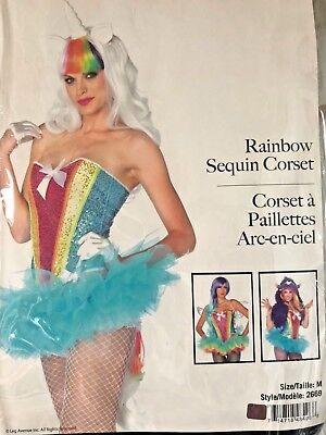 Rainbow Sequin Corset Rave EDC Dance Unicorn Outfit  - Unicorn Corset