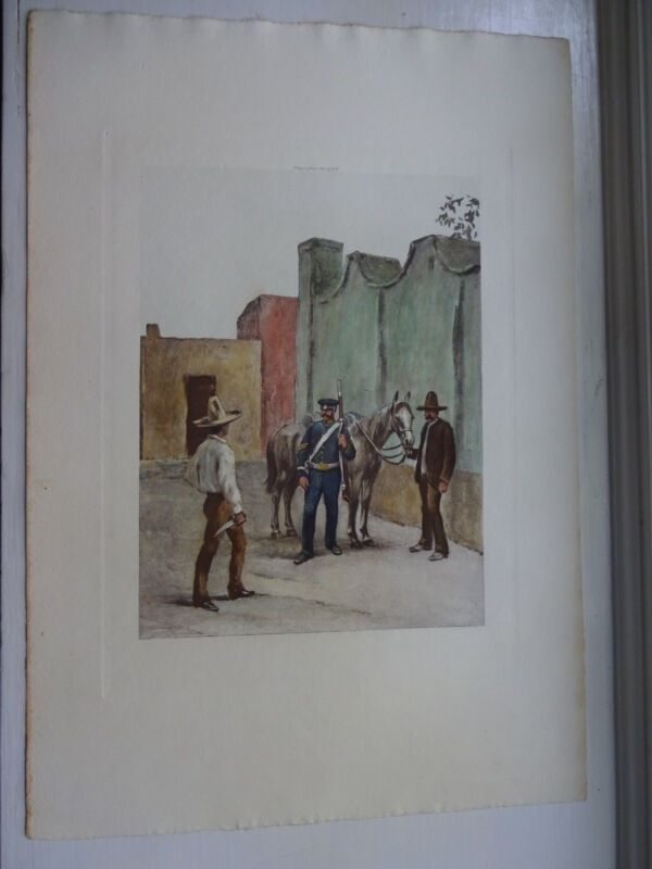 Beautiful Antique Print - DRAGOON, 1846 - (c)1892  by G.B