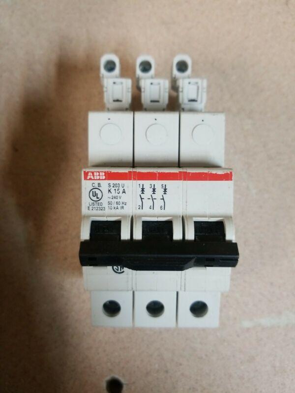 ABB S203U K 10 A 240 Volt 3 Pole Circuit Breaker