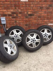 4 tires and rims 225 60R16