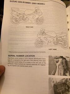 2001 2002 Suzuki GSXR1000 Service Manual Regina Regina Area image 3