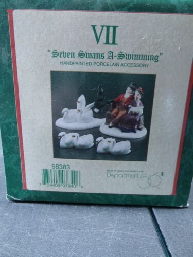 "Dept. 56 ~Twelve Days of Dickens Village Day VII ~""Seven Swans A-Swimming"" 58383"