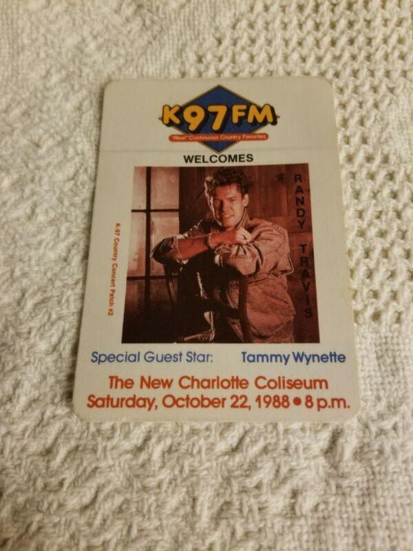 1988 Randy Travis/Tammy Wynette K97 FM Concert Promo Sticker