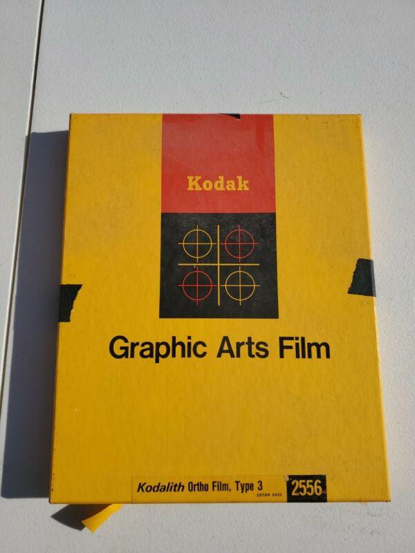 """Kodak Kodalith Ortho Film Type 3 8x10"""" 2556 Open Box #19"""