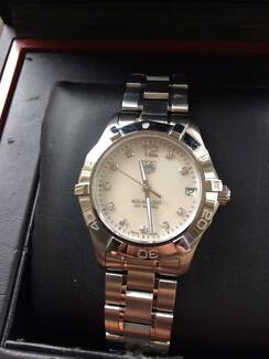 TAG Heuer Women Aquaracer Stainless Steel and Diamond Watch