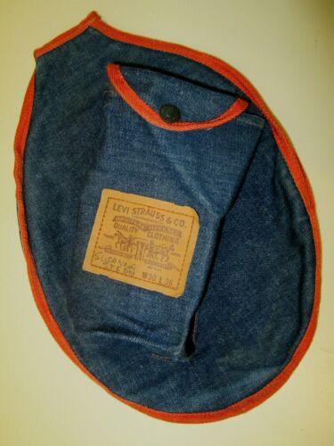 vintage Levi Strauss blue jean denim racket cover tennis badminton rare 1970
