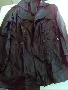 New Womens Leather Coat Jacket Size 12 Mount Druitt Blacktown Area Preview