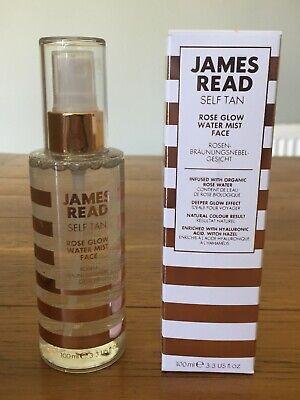 'JAMES READ' SELF-TAN ROSE GLOW FACIAL WATER MIST 100ML - BRAND NEW BOXED