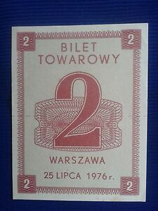 POLAND Communist - Tickets commodity and food stamps 25.VII.1976. - <span itemprop='availableAtOrFrom'>Skierbieszów, Polska</span> - POLAND Communist - Tickets commodity and food stamps 25.VII.1976. - Skierbieszów, Polska