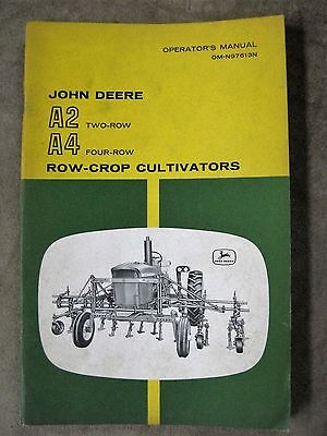 John Deere A2 A4 2 4 Row Crop Cultivator Operators manual