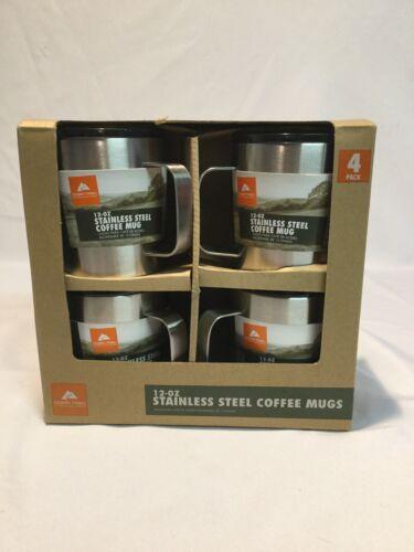Ozark Trail 12-OZ Stainless Steel Coffee Mugs 4 Pack