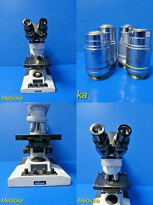 Reichert Microstar Iv Series Model 410 Microscope W Color Coded Objective18029