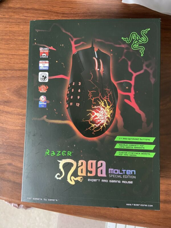 Razer Naga Molten Special Edition MMO Gaming Mouse Model RZ01-0028